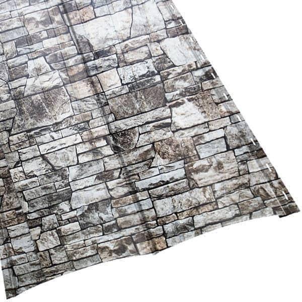 Металлосайдинг «Блок Хаус» двойной в пленке (356/330) 0,5 ECOSTEEL белый камень