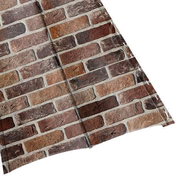 Металлосайдинг «Блок Хаус» двойной в пленке (356/330) 0,5 ECOSTEEL кирпич