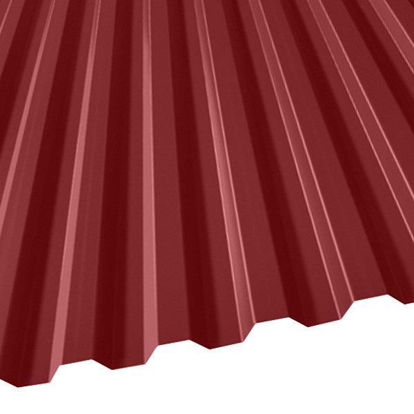 Профнастил C-21 (1051/1000) 0,65 полиэстер RAL 3011 (коричнево-красный)
