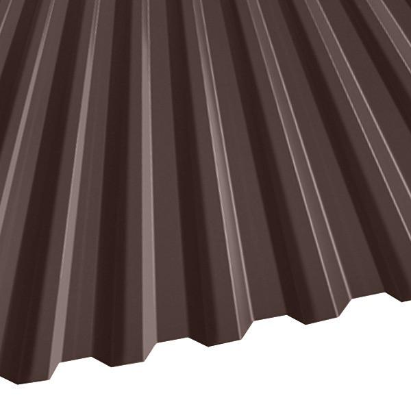 Профнастил C-21 (1051/1000) 0,45 полиэстер RAL 8017 (шоколадно-коричневый)