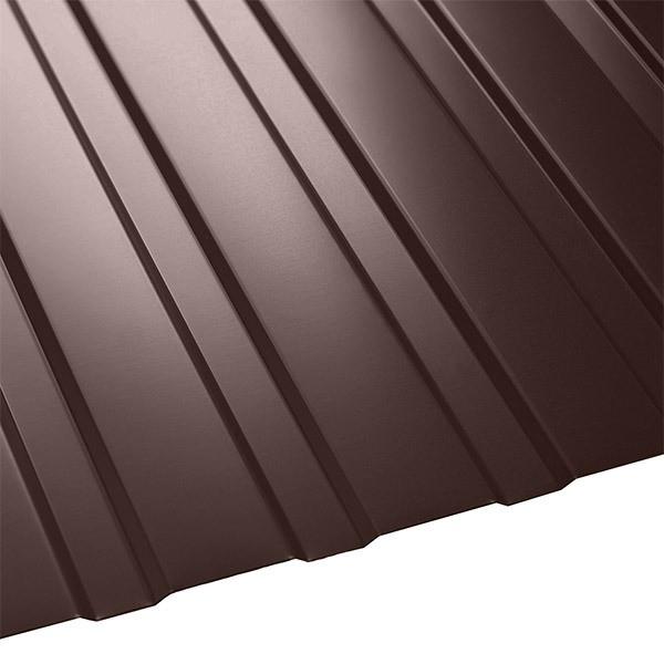 Профнастил C-8 Польша (1210/1170) 0,4 полиэстер RAL 8017 (шоколадно-коричневый)