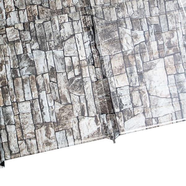 """Металлосайдинг """"Эльбрус"""" в пленке (264/240) 0,5 ECOSTEEL белый камень (Металлосайдинг)"""