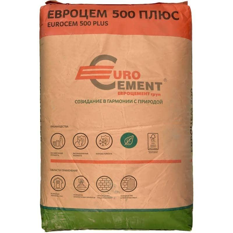 Цемент Евроцемент М500 ЦЕМ I 42,5 50 кг