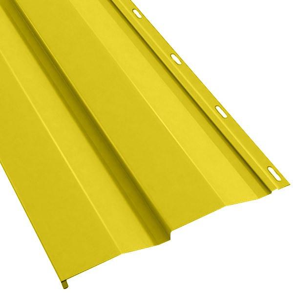 Металлосайдинг «Корабельная доска» в пленке (260/226) 0,5 полиэстер RAL 1018 (цинково-желтый)