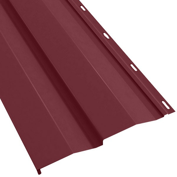 Металлосайдинг Корабельная доска в пленке (270/235) 0,4 полиэстер RAL 3005 (винно-красный)