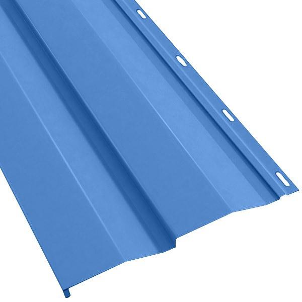 Металлосайдинг «Корабельная доска» в пленке (260/226) 0,5 полиэстер RAL 5005 (сигнальный синий)