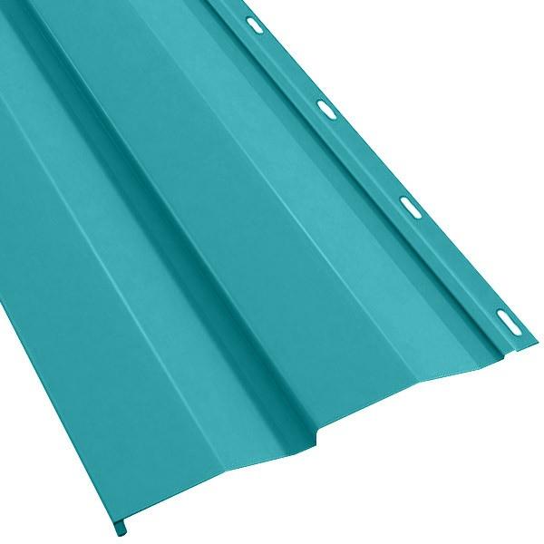 Металлосайдинг Корабельная доска в пленке (270/235) 0,5 полиэстер RAL 5021 (водная синь)