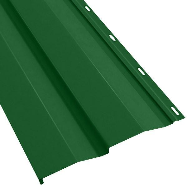 Металлосайдинг «Корабельная доска» в пленке (260/226) 0,45 полиэстер RAL 6002 (лиственно-зеленый)