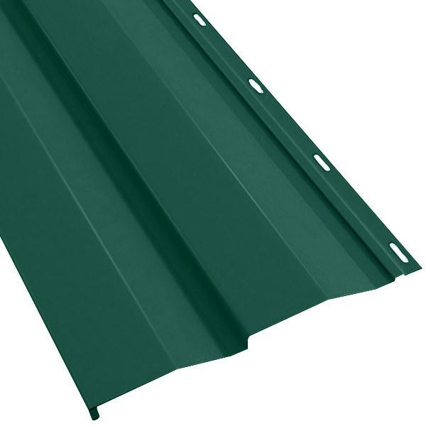 Металлосайдинг «Корабельная доска» в пленке (260/226) 0,5 полиэстер RAL 6005 (зеленый мох)