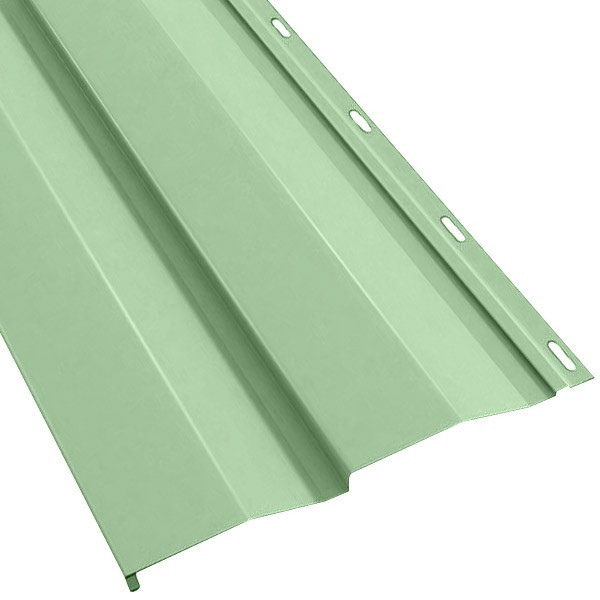Металлосайдинг Корабельная доска в пленке (270/235) 0,55 полиэстер RAL 6019 (бело-зеленый)