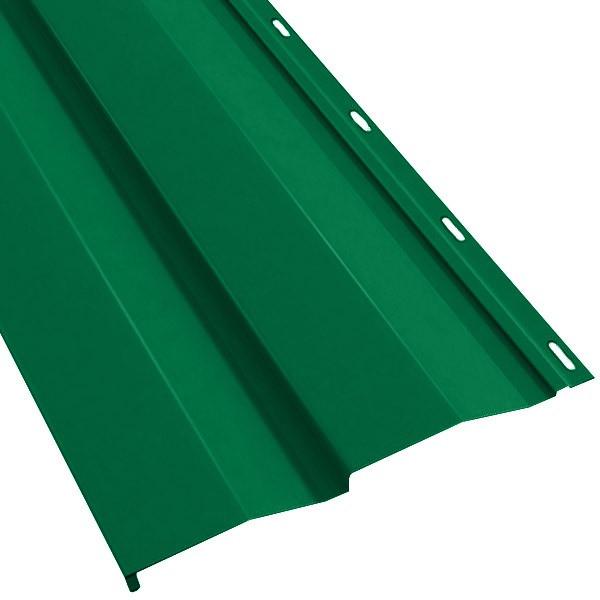 Металлосайдинг «Корабельная доска» в пленке (260/226) 0,5 полиэстер RAL 6029 (мятно-зеленый)