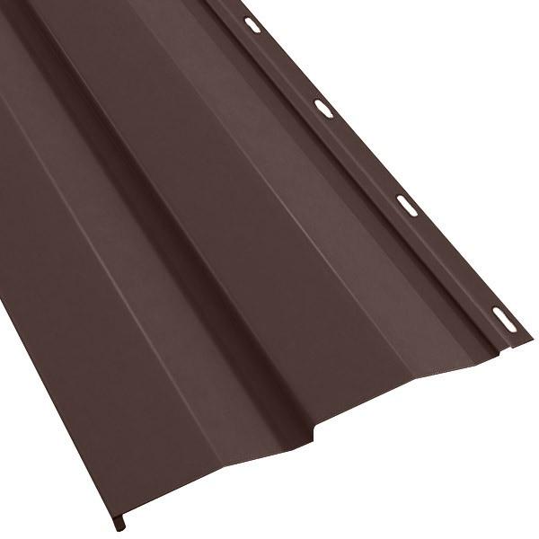 Металлосайдинг Корабельная доска в пленке (270/235) 0,55 полиэстер RAL 8017 (шоколадно-коричневый)