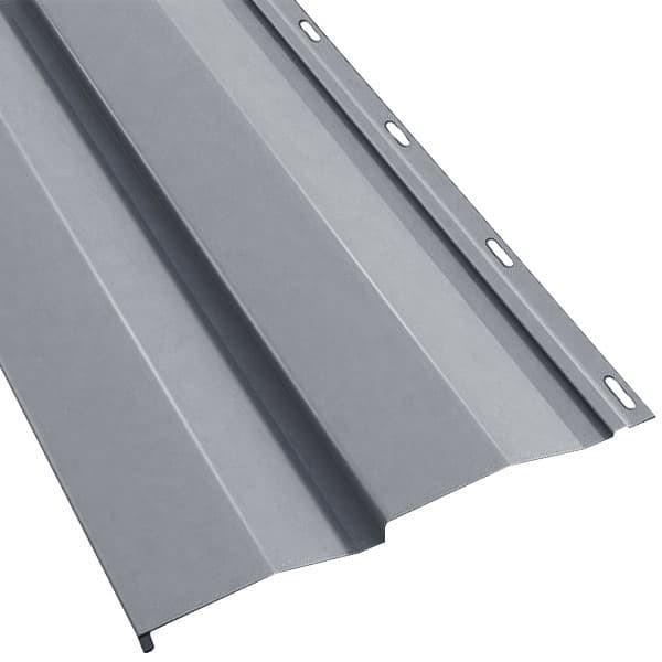 Металлосайдинг Корабельная доска в пленке (270/235) 0,4 полиэстер RAL 7024 (графитовый серый) (Металлосайдинг)