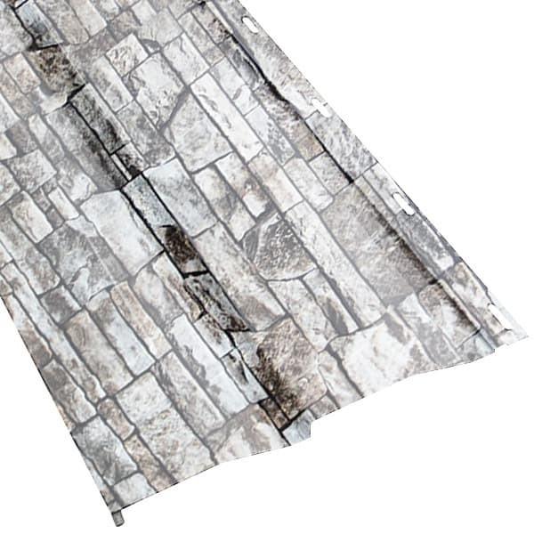 Металлосайдинг «Корабельная доска» в пленке (260/226) 0,5 ECOSTEEL белый камень (Металлосайдинг)