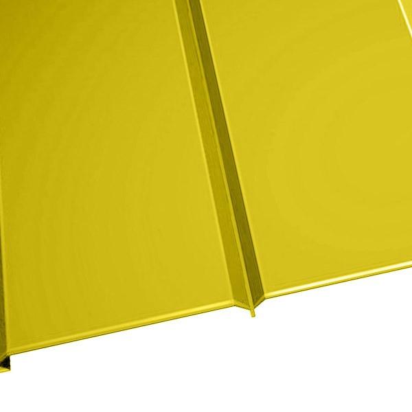 """Металлосайдинг """"Эльбрус"""" в пленке (264/240) 0,5 полиэстер RAL 1018 (цинково-желтый)"""