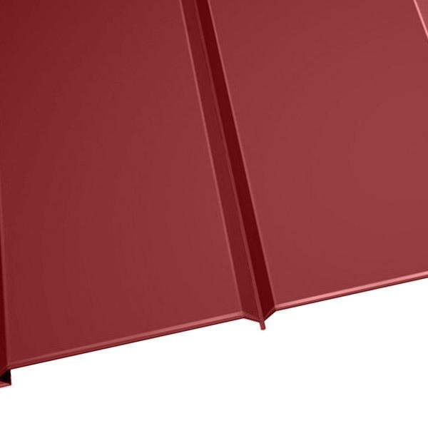 """Металлосайдинг """"Эльбрус"""" в пленке (264/240) 0,5 полиэстер RAL 3011 (коричнево-красный)"""