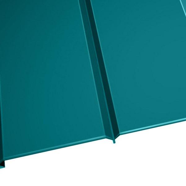 """Металлосайдинг """"Эльбрус"""" в пленке (264/240) 0,5 полиэстер RAL 5021 (водная синь)"""