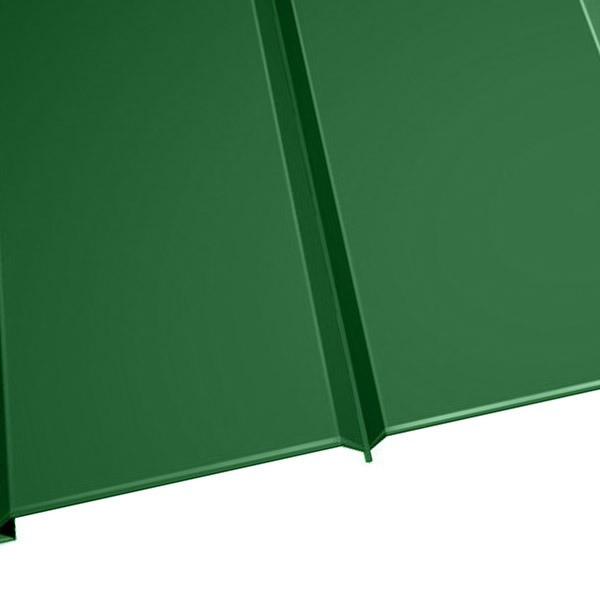 """Металлосайдинг """"Эльбрус"""" в пленке (264/240) 0,45 полиэстер RAL 6002 (лиственно-зеленый)"""