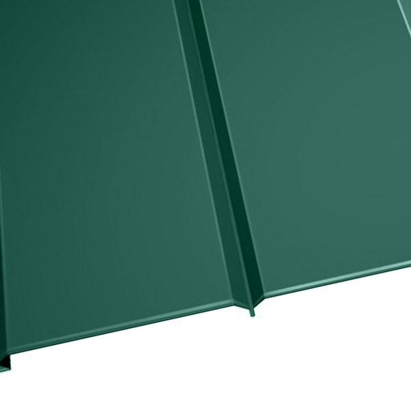 """Металлосайдинг """"Эльбрус"""" в пленке (264/240) 0,45 полиэстер RAL 6005 (зеленый мох)"""