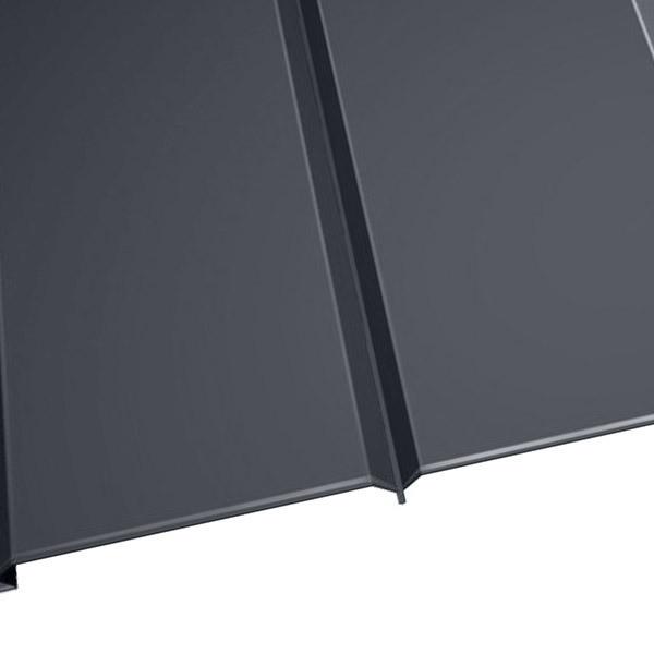 """Металлосайдинг """"Эльбрус"""" в пленке (264/240) 0,5 полиэстер RAL 7024 (графитовый серый)"""