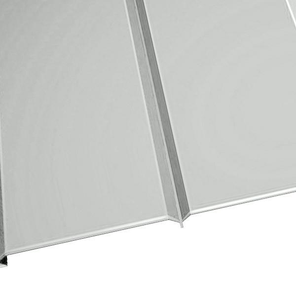 """Металлосайдинг """"Эльбрус"""" в пленке (264/240) 0,45 полиэстер RAL 9003 (сигнальный белый)"""