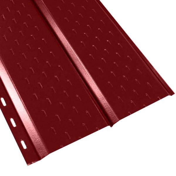 """Софит """"Эльбрус"""" перфорированный в пленке (264/240) 0,45 полиэстер RAL 3011 (коричнево-красный)"""