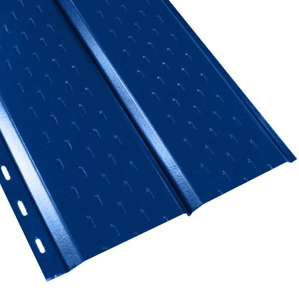 """Софит """"Эльбрус"""" перфорированный в пленке (264/240) 0,45 полиэстер RAL 5005 (сигнальный синий)"""