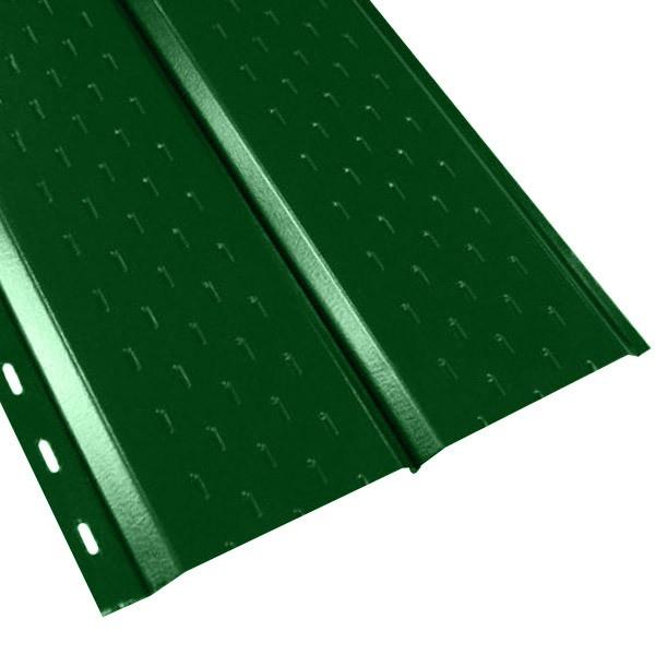 """Софит """"Эльбрус"""" перфорированный в пленке (264/240) 0,45 полиэстер RAL 6002 (лиственно-зеленый)"""