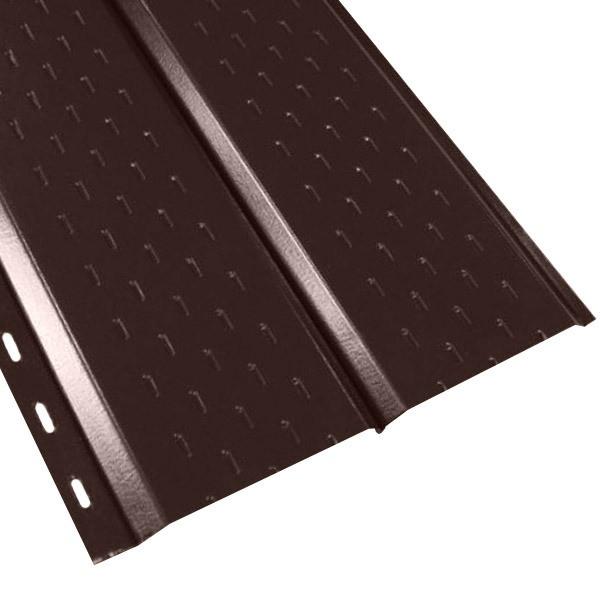 """Софит """"Эльбрус"""" перфорированный в пленке (264/240) 0,45 полиэстер RAL 8017 (шоколадно-коричневый)"""