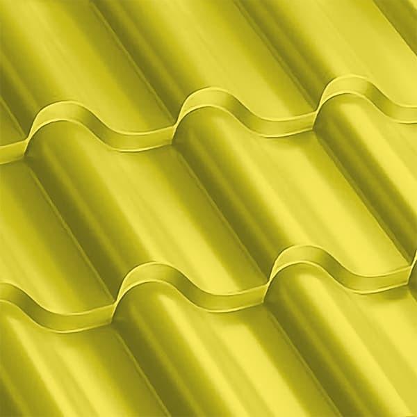 Металлочерепица Монтерроса 30-350 (1170/1110) полиэстер 0,5 RAL 1018 (цинково-желтый)