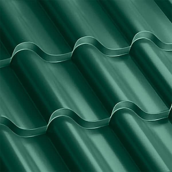 Металлочерепица Монтерроса 35-400 (1170/1110) полиэстер 0,5 RAL 6005 (зеленый мох)