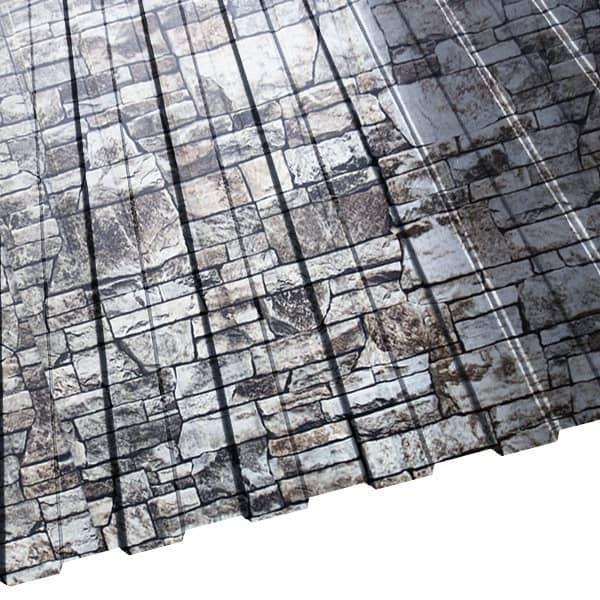 Профнастил МП-10 (1200/1100) 0,5 ECOSTEEL белый камень