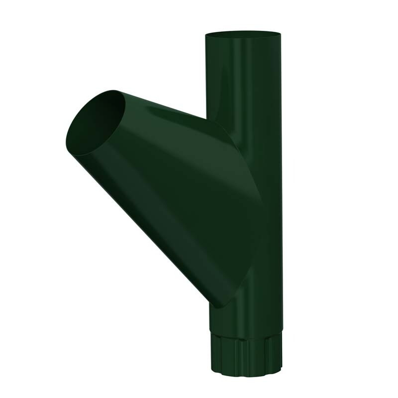 Тройник водосточной трубы D 100 «Престиж», RAL 6005 (Водосток)