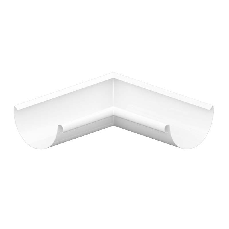 Угол желоба внешний/ внутренний 90º «Престиж», RAL 9003 (Водосток)