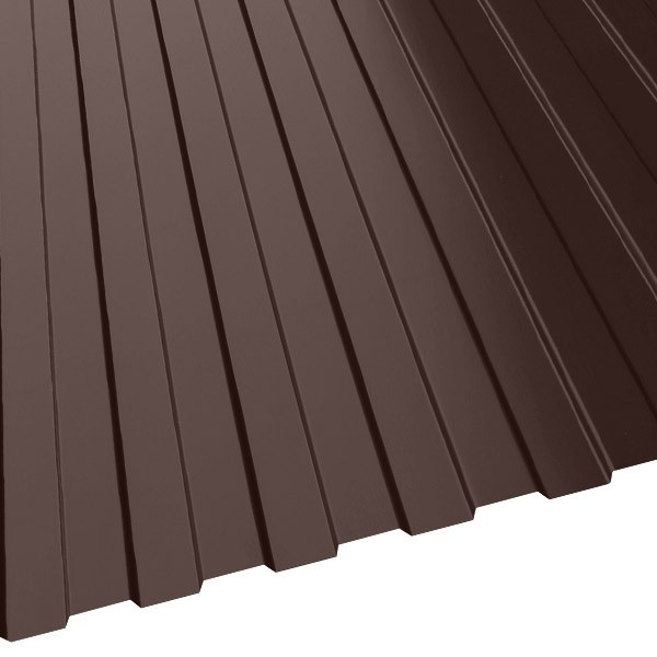 Профнастил С-8 Россия (1225/1140) 0,5 полиэстер RAL 8017 (шоколадно-коричневый)