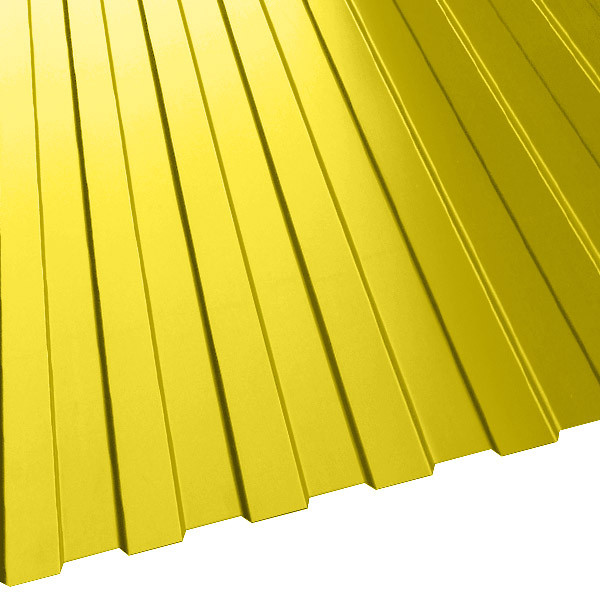 Профнастил МП-10 (1200/1100) 0,65 полиэстер RAL 1018 (цинково-желтый)