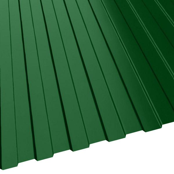 Профнастил МП-10 (1200/1100) 0,45 полиэстер RAL 6002 (лиственно-зеленый)