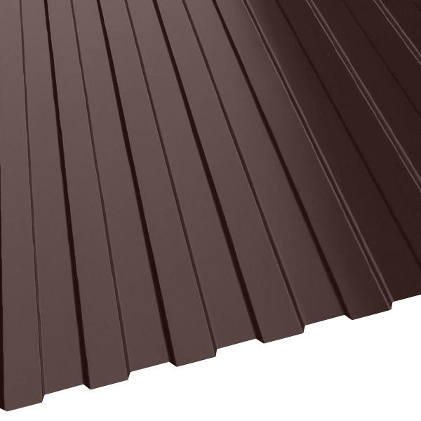 Профнастил МП-10 (1200/1100) 0,5 полиэстер RAL 8017 (шоколадно-коричневый)