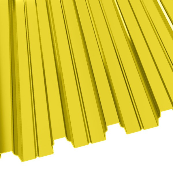 Профнастил Н-75 (800/750) 0,65 полиэстер RAL 1018 (цинково-желтый)