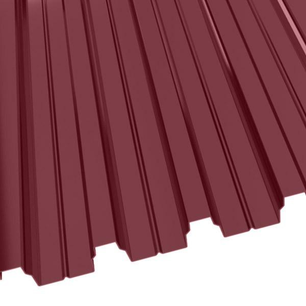Профнастил Н-75 (800/750) 0,65 полиэстер RAL 3005 (винно-красный)