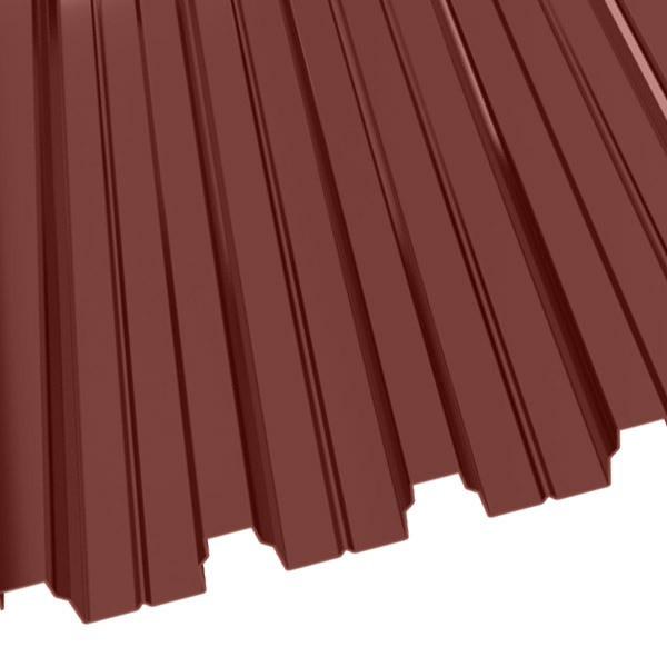 Профнастил Н-75 (800/750) 0,9 полиэстер RAL 3009 (красная окись)