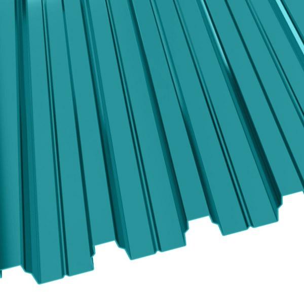 Профнастил Н-75 (800/750) 0,65 полиэстер RAL 5021 (водная синь)