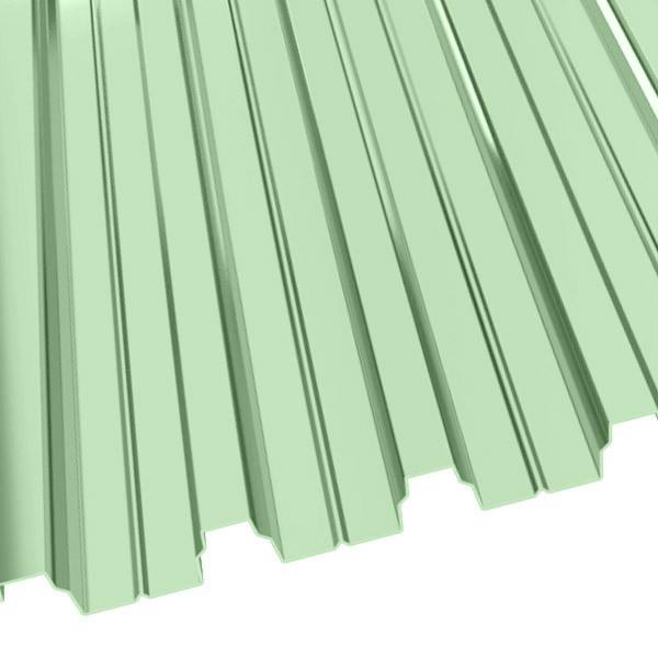 Профнастил Н-75 (800/750) 0,8 полиэстер RAL 6019 (бело-зеленый)
