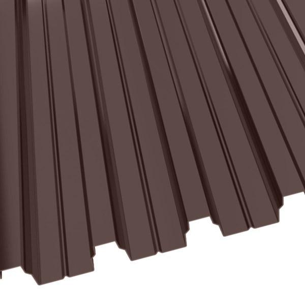 Профнастил Н-75 (800/750) 0,8 полиэстер RAL 8017 (шоколадно-коричневый)