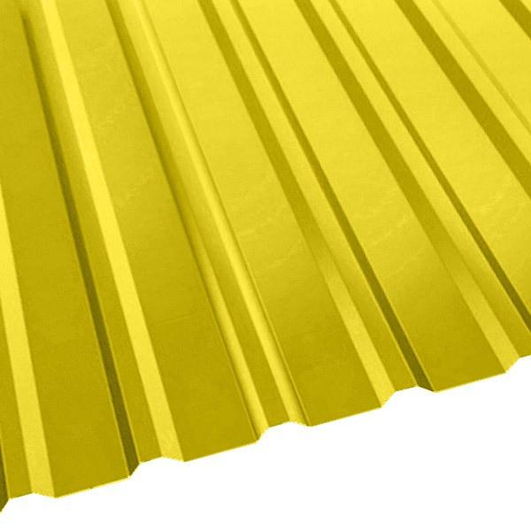 Профнастил R-20 (R) с капельником (1130/1080) 0,55 полиэстер RAL 1018 (цинково-желтый)