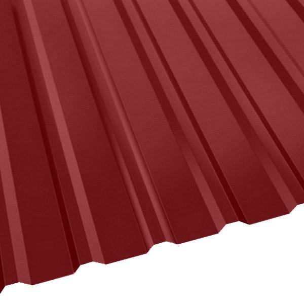Профнастил R-20 (R) с капельником (1130/1080) 0,45 полиэстер RAL 3003 (рубиново-красный)