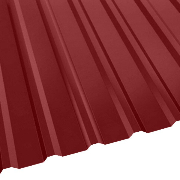 Профнастил R-20 (R) с капельником (1130/1080) 0,5 полиэстер RAL 3003 (рубиново-красный)