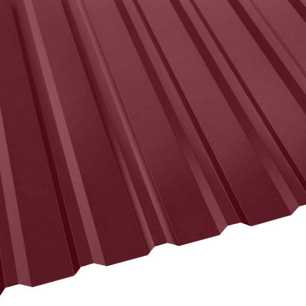 Профнастил R-20 (R) с капельником (1130/1080) 0,5 полиэстер RAL 3005 (винно-красный)