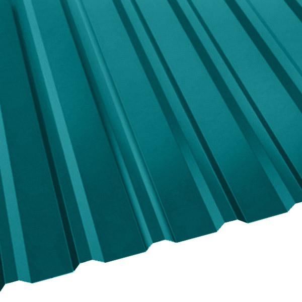 Профнастил R-20 (R) с капельником (1130/1080) 0,5 полиэстер RAL 5021 (водная синь)