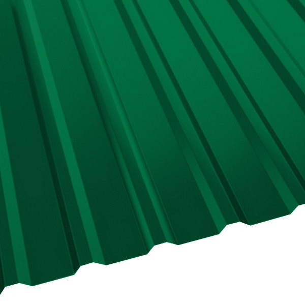 Профнастил R-20 (R) с капельником (1130/1080) 0,55 полиэстер RAL 6029 (мятно-зеленый)